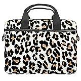 Bolso de piel de leopardo para ordenador portátil de 13,4 a 14,5 pulgadas, maletín de negocios, bandolera para ordenador, tablet para hombre
