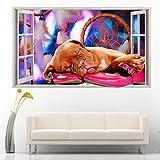 Chiot chien rose chaussures fille sticker mural chambre fille garçon garçon vie enfant