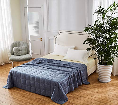 King Size Cooling Bamboo Weighted Blanket - 25lbs 88x104 - The Only True King Size Bamboo Cooling Weighted Comforter On The Market - Perfect for Couples