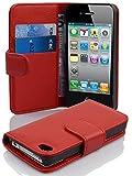 Cadorabo Coque pour Apple iPhone 4 / iPhone 4S en Rouge Cerise - Housse...