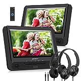 Pumpkin Lecteur DVD Portable Double ecran Voiture 9 Pouce supporte USB SD...