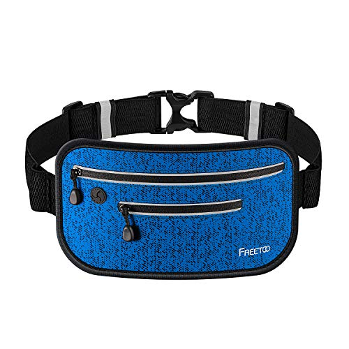 FREETOO ランニングポーチ ウエストバッグ 極薄 超軽量 防水 防汗 反射素材 夜間対応 調節可能 6.0インチまでのスマホ