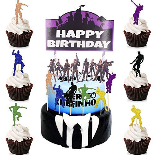 BESLIME Suministros para Fiestas de Magdalenas para Cumpleaños 13pcs Cupcake Toppers, Party DIY Décor Suministros