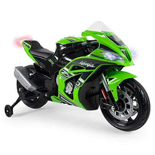 INJUSA – Moto Ninja Kawasaki ZX10 a 12V con Acelerador en Puño,...