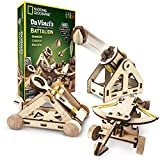 NATIONAL GEOGRAPHIC - Da Vinci's DIY Science and Engineering Construction Kit  Build Three Functioning Wooden Models: Catapult, Bombard and Ballista