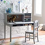Guidecraft Children's Media Desk and Chair Set – Gray: Student's...