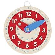 Goki 58485 Lernuhr Learn to Tell The Time, gemischt