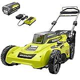Ryobi Cordless Push Lawn Mower 20 in. 40-Volt with Whisper-Quiet Design