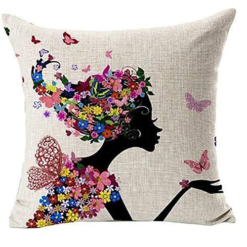 Gysad Fundas de Cojines Serie de Autorretratos Fundas de Cojines para Sofa Estilo de Arte Moderno Pillow Case Suave y Confortable Funda de Almohada Creativo Decoracion hogar