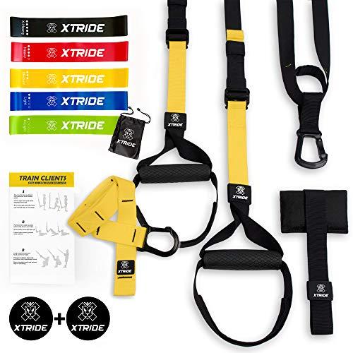 Xtride Kit de Entrenamiento en Suspensión Fitness Profesional, Cintas...