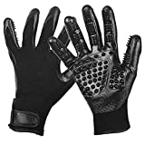 Meric Pet Grooming Glove for Dogs, Cats, and Horses, Reduce Stress For You And Your Pet, Reduce Allergens, Reduce Hairballs and Hair on Furniture and Clothes, Easy to Use and Clean