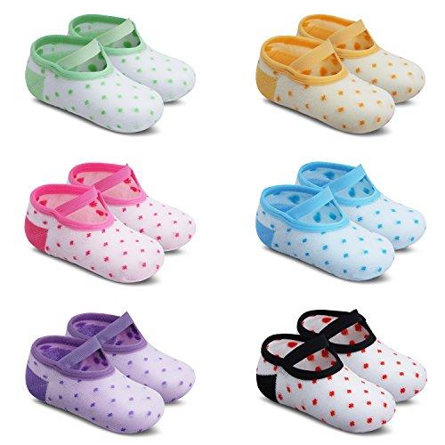 Ateid Calzini Antiscivolo Bambini Neonati Confezione da 6 Multicolore 1-3 Anni