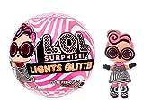 LOL Surprise Poupées de mode à collectionner - Avec 8 surprises, Modes & Accessoires - révélation de lumière noire comprise- Poupée Pailletée Lights