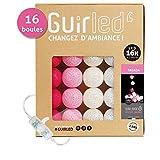 Guirlande lumineuse boules coton LED USB - Chargeur double USB 2A inclus -...