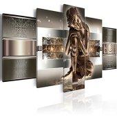 murando - Cuadro en Lienzo 200x100 cm Buda - Abstracto Impresión de 5 Piezas Material Tejido no Tejido Impresión Artística Imagen Gráfica Decoracion de Pared 020113-289
