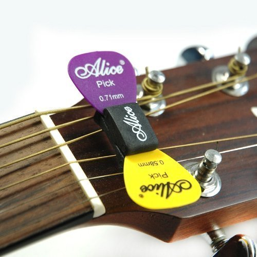 Alice A010C Guitar Pick Plectrum Holder (Pack of 2) For Acoustic and Electric Guitars