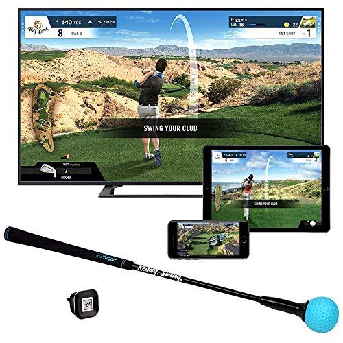 Phigolf Mobile and Home スマートゴルフゲームシミュレーター スイングスティック付き WGTエディション
