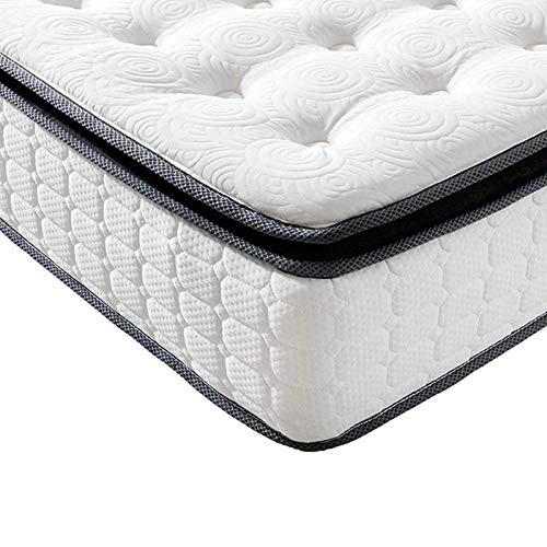 Vesgantti Pillow Top Series - 10.6 Inch Innerspring Hybrid Twin Mattress/Bed in a Box, Medium Firm Plush Feel - Multi-Layer Memory Foam and Pocket Spring - CertiPUR-US Certified/10 Year Warranty