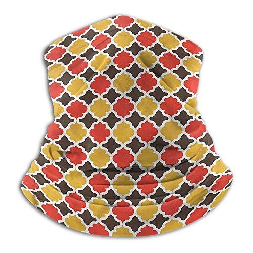 Bufandas para Mujer Quatrefoil Headwear Calentador de Cuello Motocicleta Quatrefoil Boho Clover
