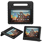 MoKo Case for Fire HD 10 Tablet (5th/7th/9th Generation, 2015/2017/2019 Release), Kids Shock Proof Convertible Handle Light Weight Super Protective Stand Cover Case for Fire HD 10.1 Inch, Black