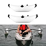 Lixada Kayak PVC Inflatable Outrigger Kayak Canoe Fishing Boat Standing Float Stabilizer System(Without Metal bar) -2 PCS