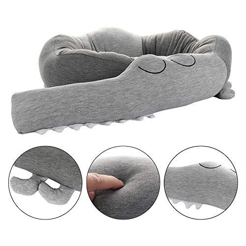 Bettumrandung,Babybett Kissen,Krokodil Stil Baby Nestchen Bettumrandung für Babybett Decke Kissen Bettumrandung,185cm Länge