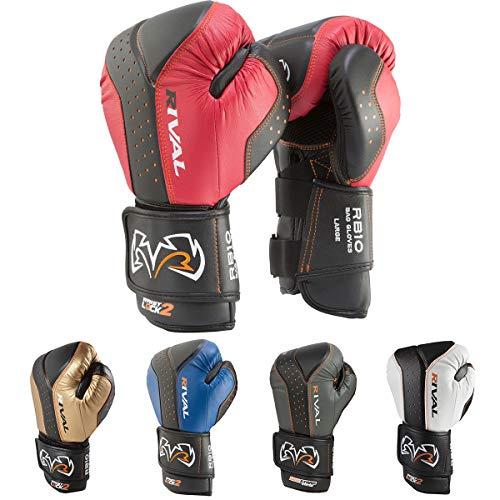 RIVAL Boxing d3o Intelli-Shock Bag Gloves - Medium - Black/Red