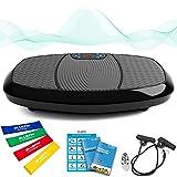 Bluefin Fitness Plateforme Vibrante & Oscillante à Doubles Moteurs 3D | Oscillation, Vibration + Mouvement 3D | Grande Surface Anti-Dérapante | Haut-parleurs Bluetooth | Design Anglais (Noir)