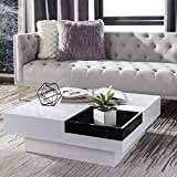 Safavieh Home Collection Wesley Coffee Table, White/Black