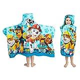 Franco Kids Bath and Beach Soft Cotton Terry Hooded Towel Wrap, 24' x 50', Paw Patrol Blue