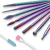 Vathery Embout Ponceuse Ongles, 10 Pcs Forets à Ongle Manucure électrique Bits pour Pédicure