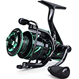 Sougayilang Fishing Reel 6.2:1 High-Speed Gear Ratio Spinning Fishing Reel with 12+1Stainless BB and CNC Aluminum Spool & Handle for Freshwater and Saltwater Fishing-3000