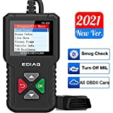 EDIAG Car OBD2 Scanner YA-101 Car Code Reader for Check Engine Light,O2 Sensor,EVAP Test, On-Board Monitor Test,Smog Check,Code Reader OBD2 Diagnostic Scan Tool for All OBD2 Protocol Cars Since 1996