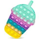 Fidget Toy Poppit Antistress Popit Game Pop Bubble, Drink bottle Toys Gioco Antistress a fine Tensione Giocattolo sensoriale L'autismo allevia l'ansia per Bambini e Adulti (Drink bottleA)