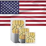 TARJETA SIM PREPAGADA: Compatible con todos los dispositivos desbloqueados como routers Wi-Fi, Smartphones, Tablets, dispositivos iOS (iPhone, iPad) etc. SIM de triple tamaño (Estándar, Micro, Nano) con 6 GB de datos móviles, llamadas nacionales ilim...