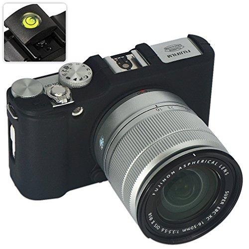 No1accessory XJPT-XA2GJ-01 黒 ブラック デジタルカメラケース FUJIFILM Fuji X Series XA2 X-A2 XM1 X-M1 専用 + レベル