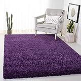 Safavieh Milan Shag Collection SG180-7373 2-inch Thick Area Rug, 3' x 5', Purple