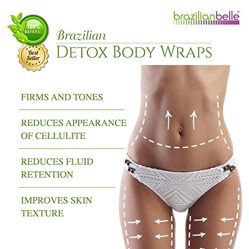 Brazilian Detox Clay Body Wraps (10-Applications) Slimming Home Spa Treatment for Cellulite, Weight Loss, Stretch Marks | Natural, Purifying Detoxifier for Smooth, Toned Skin (10 Applications) 5