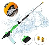 Jet Sprayer Wand for Powerful Water Pressure, 36 Inch Extendable Sprayer with Included Nozzle Brush for cleaning Glass Windows, Washing Car and Outdoor Furniture, Accessories Included