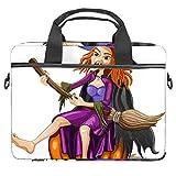 Witch - Maletín para portátil de 13,5 a 14 pulgadas, maletín para ordenador portátil, funda de hombro, ligera, para colegio, trabajo, para hombres y mujeres