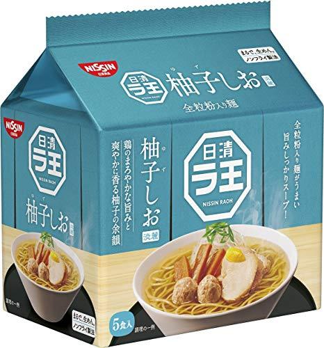 日清 ラ王 柚子しお 5食パック 465g