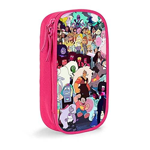 Steven-Universe - Astuccio portatile elegante con 12 scomparti per penne e pennarelli, per scuola, ragazze, uomo, colore: Rosa