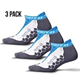 Thirty 48 Running Socks for Men and Women Features Coolmax Fabric That Keeps Feet Cool & Dry - 1 Pair or 3 Pair ([3 Pairs] Blue/Gray, X-Large - Men 12-14)