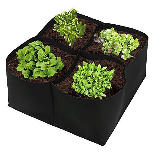 JYCRA, kit semina con fioriera rialzata in tessuto, per piante, fiori e verdure, da giardino e cortile