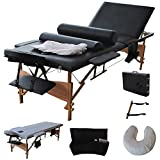 New Fold Massage Table Portable Facial Bed W/sheet+cradle Cover+2 Bolster 84'l Portable Massage Table Facial SPA Bed Tattoo W/free Carry Case Black