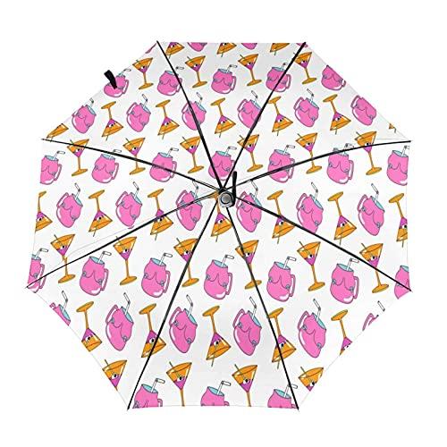 Parapluie de voyage pliable en forme de gobelet portable, compact, léger,...