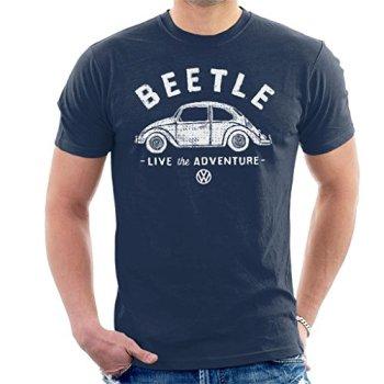 Volkswagen Beetle White Live The Adventure Men's T-Shirt