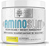 AMINO SLIM - Slimming BCAA Weight Loss Drink For Women, Vegan Amino Acids & L-Glutamine Powder for Post Workout Recovery & Thyroid Support   Appetite Suppressant, Metabolism Booster & Stress Relief