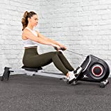 XtremepowerUS Ultra-Quiet Foldable Magnetic Rower Machine Exercise Workout Rowing 10 Adjustable Resistance w/LCD Display
