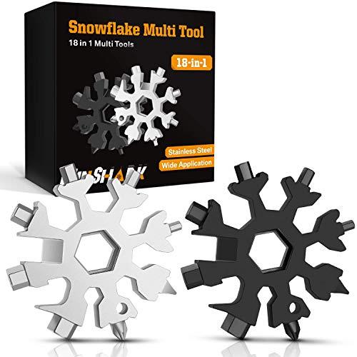 Hinshark Geschenke für Männer - 18-in-1 Schneeflocken Multi-Tool, Adventskalender Männer 2021,...